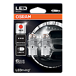 582 Osram Long Life LED Retrofit Red 12V 7440 W21W Wedge Bulb