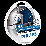 H3 Philips Diamond Vision 12V 55W 453 Halogen Bulbs (Pair)
