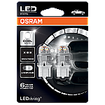 580 Osram Long Life LED Retrofit White 12V 7443 W21/5W Wedge Bulb