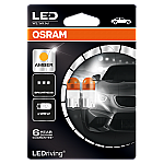 501 OSRAM Long Life LED 12V W5W Amber Wedge Bulbs (Pair)