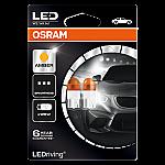 501 OSRAM Long Life LED 12V W5W Amber Wedge Bulbs (Pair)