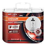 H7 OSRAM Night Breaker Black Cap 12V 55W 477 Halogen Bulbs (Pair)
