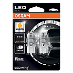 582 Osram Long Life LED Retrofit Amber 12V 7440 W21W Wedge Bulb