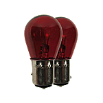 380 Red Standard Replacement 12V P21/5W Bayonet Bulbs (Pair)