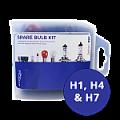 H1 - H4 - H7 ABD Prime Universal Spare Bulb Kit