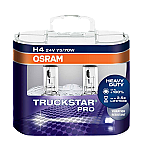 H4 OSRAM Truckstar Pro +100% 24V 75/70W Headlight Bulbs (Pair)